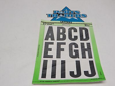 "NOS HY-KO  3"" Letter Set A-Z Enduro Cross Country Vintage Boat Water Mail Box"
