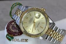 ROLEX 14K & SS TURN-O-GRAPH 1625, B&P, PRICE REDUCED $600 FOR QUICK SALE !!