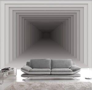 Carta da parati 3d effeto bianco infini foto murale design for Parati moderni