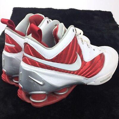 Nike Shox Athletic Bb Pro Tb Hombres Athletic Shox Zapatillas Blanco Rojo 407628 ba2b92