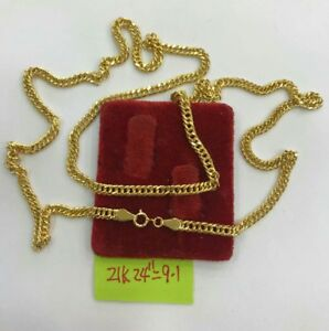 Gold-Authentic-21k-gold-necklace-24-inches-chain-9-1G