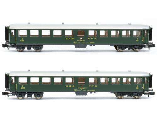 Fleischmann 881814-2-tlg NEU SBB Spur N Schnellzugwagen-Set