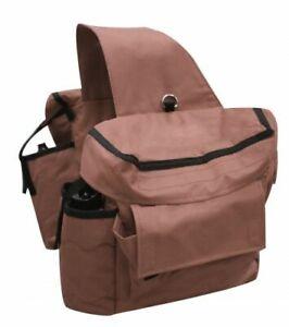 Showman-Brown-Heavy-Nylon-Cooler-Saddle-Bag-Horse-Tack-Equine-6026