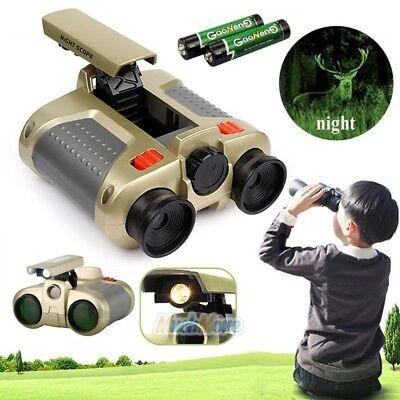 Night Vision Surveillance Scope Binoculars Telescope Pop-Up Light Xmas Gift Kids