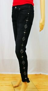 POLO by Ralph Lauren Tompkins Skinny Studded Black Jeans~NWT SIZE 27