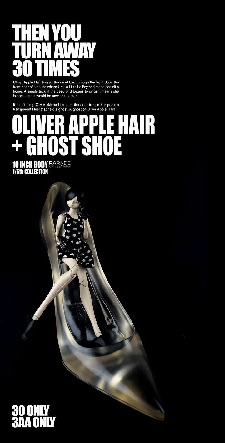 """Ashley Wood ThreeA 3A 3AA Oliver apple 10""""girl +1 Ghost Schuhe. Singned + numbeROT"""