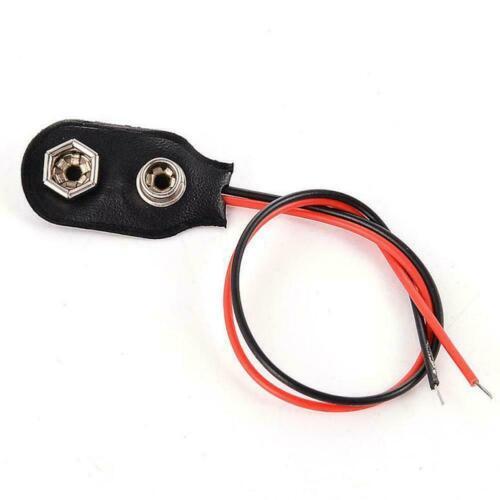 Battery Clip Connector I Type high quality w Cable I7V0 10 Pcs Snap 9V 9 Volt