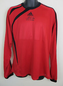 c703dfba196 Vtg Adidas 90s Football Shirt Retro Soccer Jersey Red Long sleeve ...