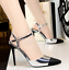 Womens-stilettos-pointed-toe-high-heels-sandals-shoes-ankle-strap-buckle-chic thumbnail 10