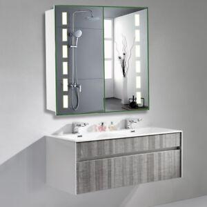 Led Beleuchtet Badezimmerspiegelschrank Badschrank Rasierer