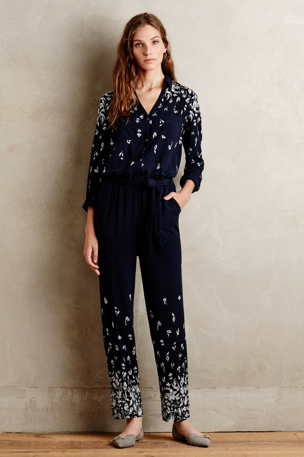 NEW ANTHROPOLOGIE  138 LAKESHORE JUMPSUIT BY LILKA SZ S SMALL