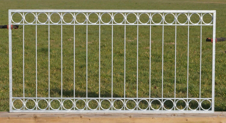 1 metri recinzione di metallo ferro battuto FERRO RECINZIONE RECINZIONE RECINZIONI Anello-z100 200 zinco