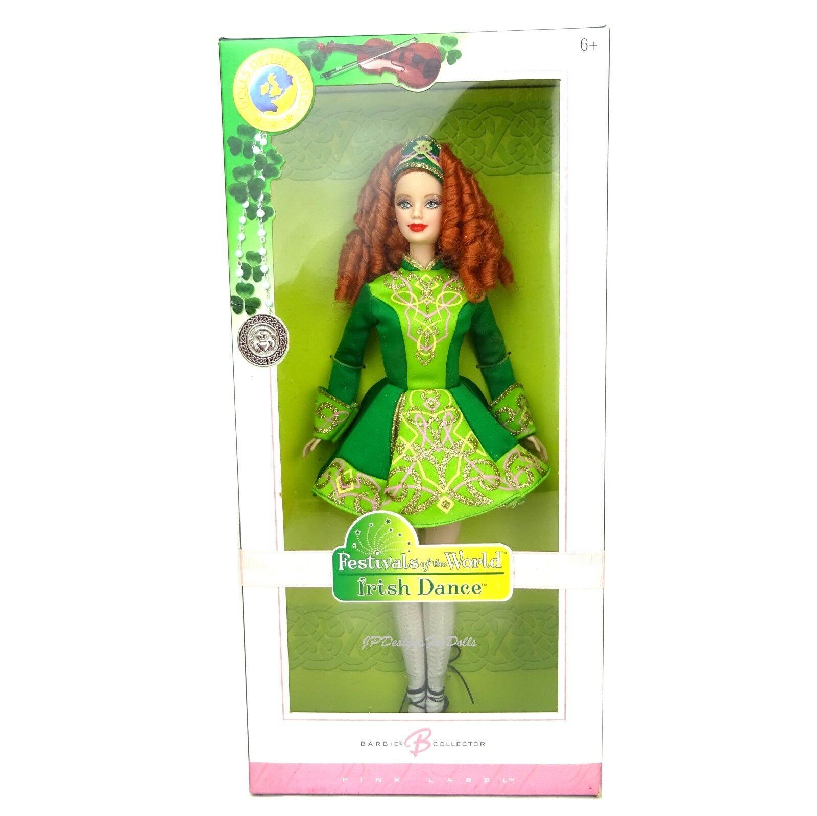 2006 Barbie Festival of the World Irish Dance Dance Dance Barbie Doll Rosa Label Worn Box 629a42