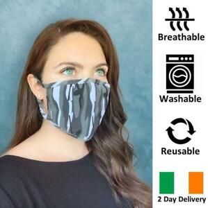 BREATHABLE-REUSABLE-amp-WASHABLE-CAMO-FACE-MASK-IRISH-2-DAY-DELIVERY