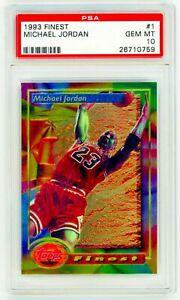 MICHAEL-JORDAN-1993-Topps-Finest-1-PSA-10-GEM-MINT-NON-REFRACTOR-CERT-26710759