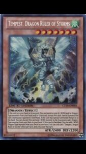 DRAGON RULER OF STORMS  YUGIOH CT10-EN004  PLAYSET SECRET RARE  NM 3x TEMPEST