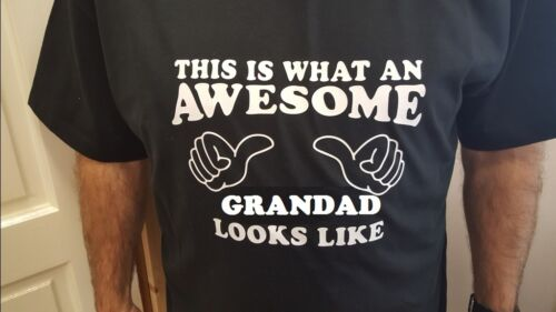 This is what an awesome GRANDAD looks like T Shirt Gift Birthday Present