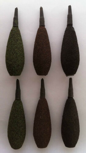 3 patterns available in 1-3oz CARP FISHING INLINE LEADS