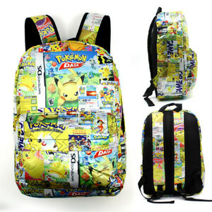 1aa0a13701 Image is loading Lot-Anime-Pokemon-School-Backpack-Color-Print-outdoor-