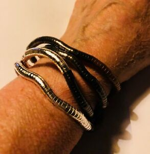 Fabulous-Articulated-Bendable-Silver-or-Gold-Multi-Snake-Bracelet-Necklace-35