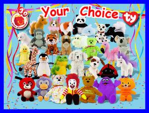 McDonald's 2009 TEENIE BEANIE BABIES Baby BEAN Bag BEAR TBB Plush YOUR CHOICE