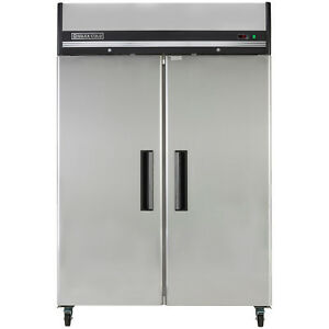 Maxx-Cold-54in-49cf-Commercial-Two-2-Door-Reach-In-Stainless-Refrigerator-Cooler