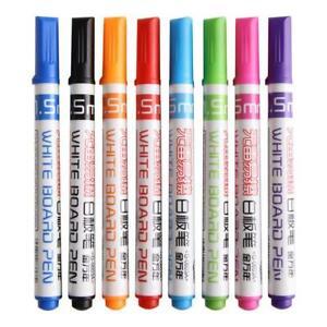 8pcs-Whiteboard-Marker-loeschbaren-Stift-Dry-Erase-Marker-Schulbedarf