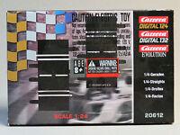 Carrera 1:24 1:32 Evolution Digital 1/4 Straights 2 Pcs. Slot Car Racing 20612