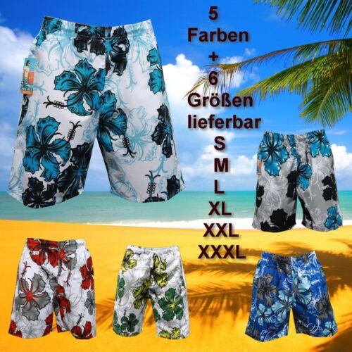 BADE SHORT SHORTS BERMUDA BADEHOSE Weiß Blau BADESLIP BOXER in S M L XL XXL XXXL