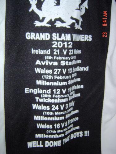 WALES GRAND SLAM 2012 WINNERS RUGBY STYLE  SHIRT NEW S M L XL XXL  BLACK UNISEX