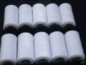 10-Carretes-De-Costura-Blanca-100-Puro-Algodon-Hilo-500-yrd-cada-compra-2-amp-obtener-gratis-3rd