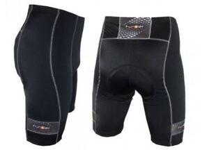 Funkier Men/'s Cycling MTB Road 7 Panel Super Soft Elastic Shorts Tights Black