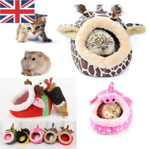 Details About Soft Pet Cozy Guinea Pig Bed House Small Animal Hamster Rat Hammock Nest Pad Uk