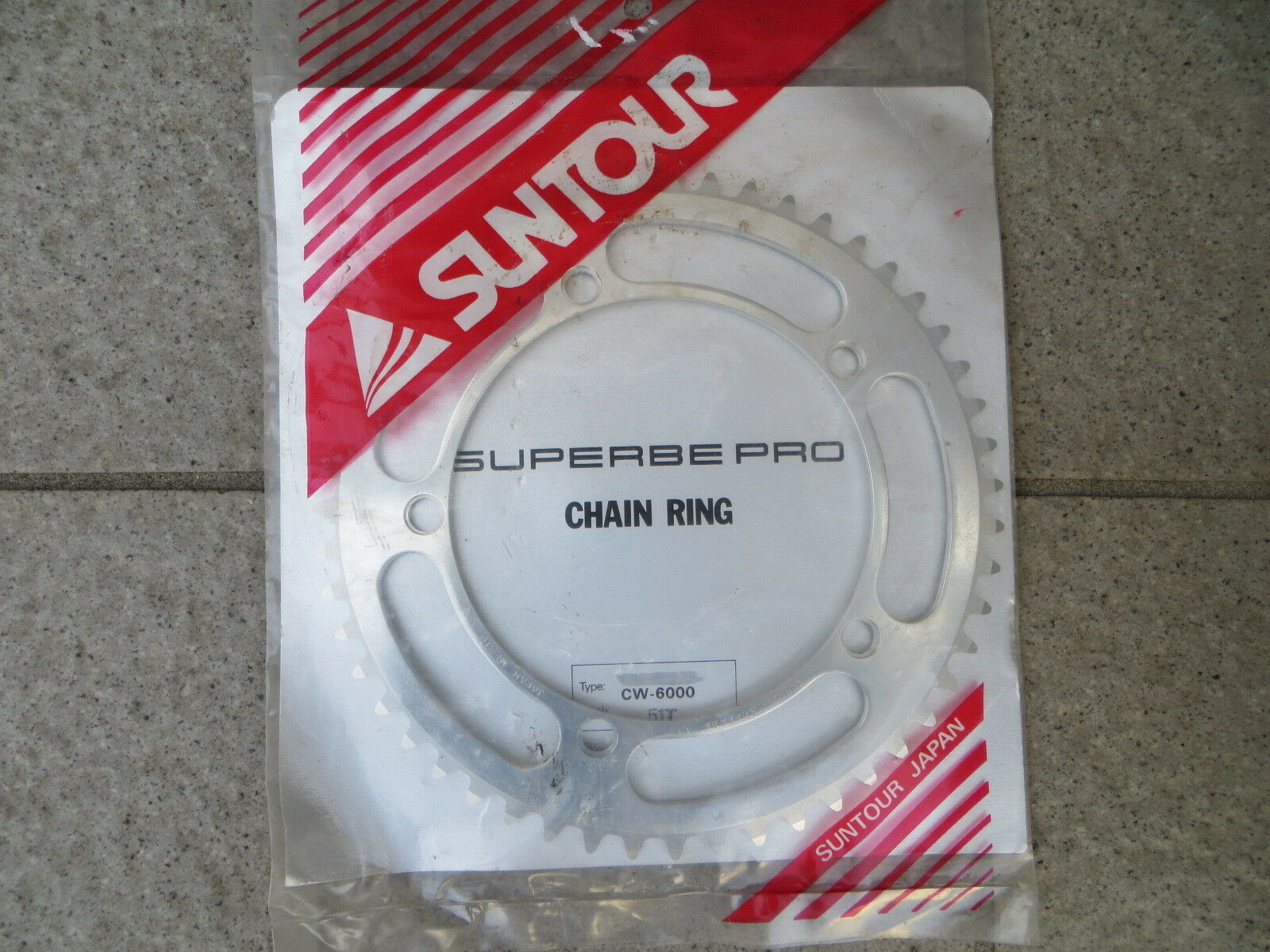 Never Used Suntour Superbe 144BCD 1 8  NJS Approved Chainring 51T (16030401)