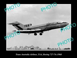 OLD-HISTORIC-AVIATION-PHOTO-OF-TAA-TRANS-AUSTRALIA-AIRLINES-BOEING-727-1968