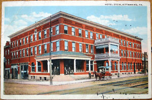 Image Is Loading 1926 Postcard Hotel Steim Kittanning Pennsylvania Pa