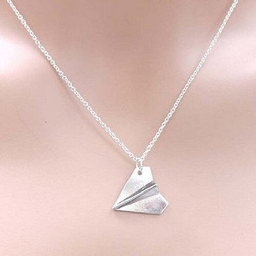 Harry Style Paper Airplane Pendant Necklace Chain Jewelry Collar Choker JB