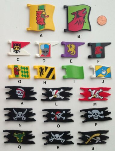 PLAYMOBIL Flags//Pick /& Choose $0.99 Each//Combined Shipping Available