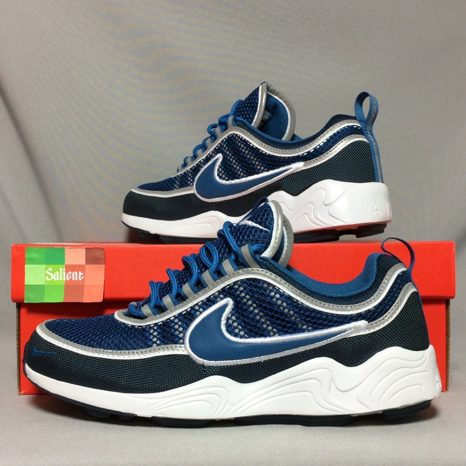 Nike Air Zoom Spiridon '16 UK8 926955-400 EUR42.5 US9 Armory Navy White Blue 16