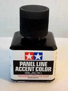Tamiya-87131-Panel-Line-Accent-Color-039-BLACK-039-W-Fine-Brush-40ml-Bottle