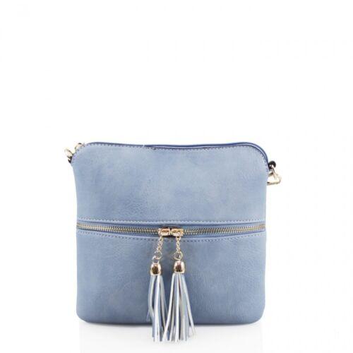 Ladies Cross Body Messenger Bag Womens Shoulder Over Bags Organiser Handbags NEW