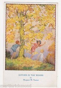 Margaret-Tarrant-Autumn-In-The-Woods-Children-Medici-Postcard-B540