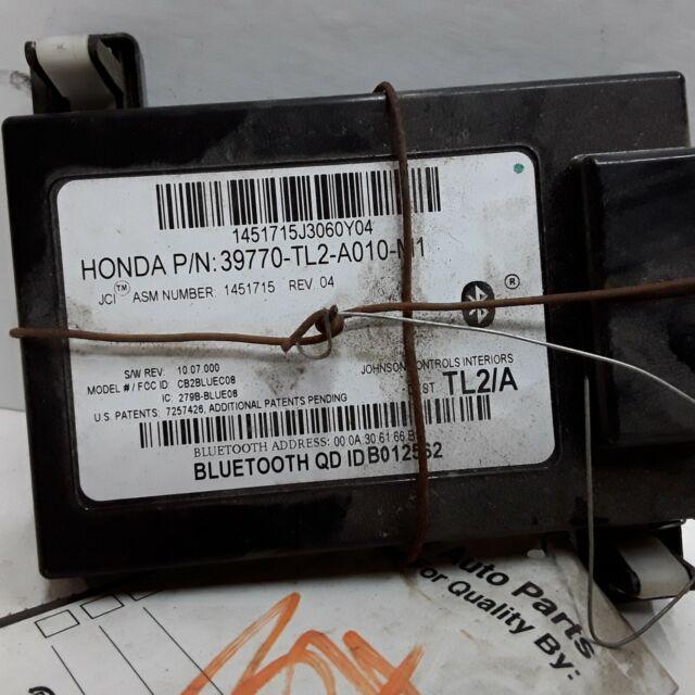 09 2009 Acura TSX Bluetooth Communication Module OEM 39770