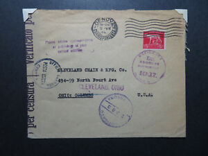 ITALIE-1945-censure-Housse-pour-USA-GENOVA-censure-Z10811