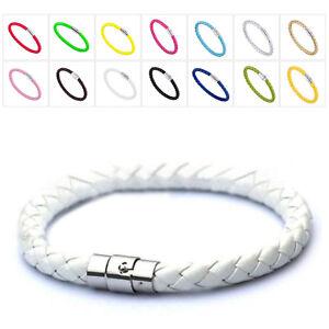 Fashion-Unisex-Magnetic-Bracelet-Leather-Buckle-Bangle-Wristband-Rhinestone