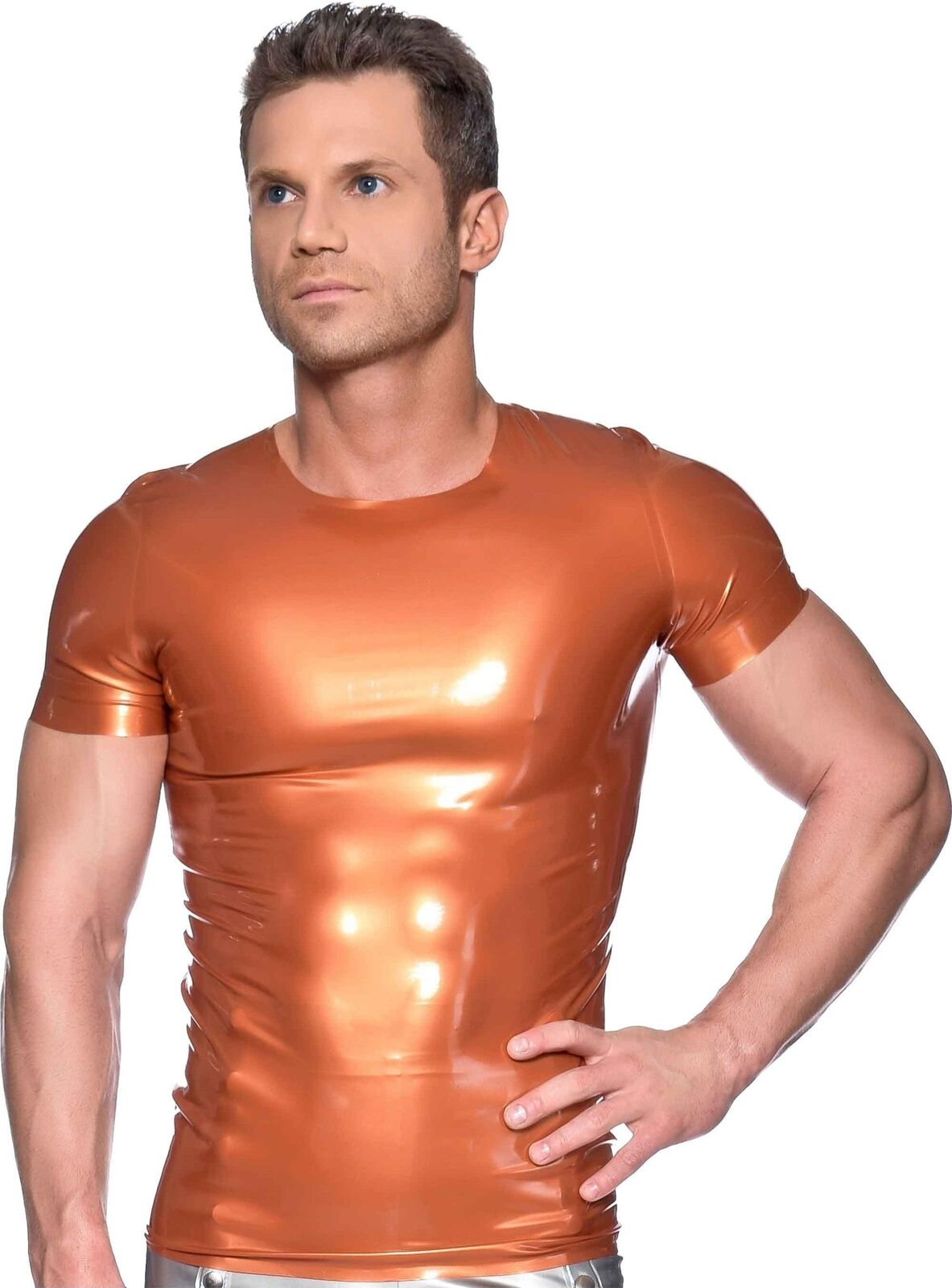 Westward Bound Men's Latex T-Shirt P.S Bronze