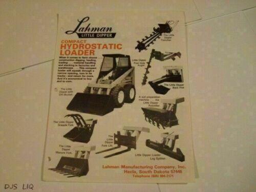 OLD LAHMAN LITTLE DIPPER LOADER SALES BROCHURE CATALOG CF1632-40