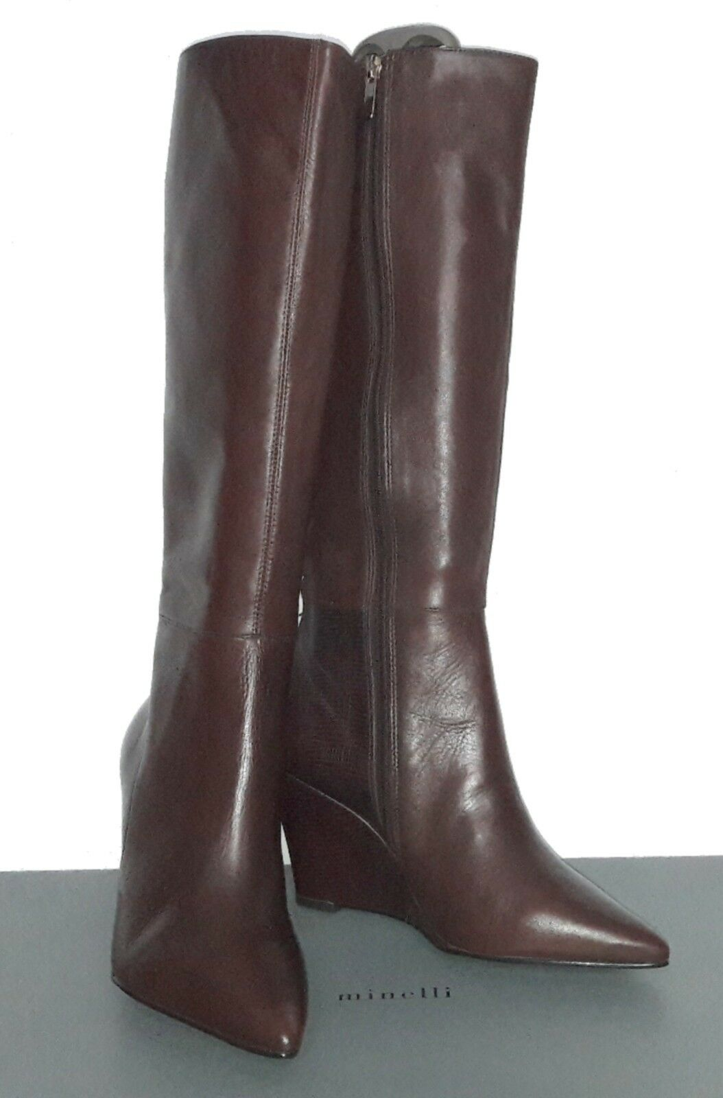 Bottes cuir chataigne MINELLI Taille 39 uk 5.5 us 7.5