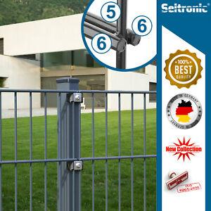Doppel-Stab Matten Metall Zaun Gitterzaun I RAL7016 RAL 6005 Feuerverzinkt Zaun