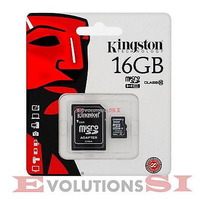 TARJETA MEMORIA KINGSTON 16 GB CLASS CLASE 10 MICRO SD ORIGINAL MICROSD 16GB
